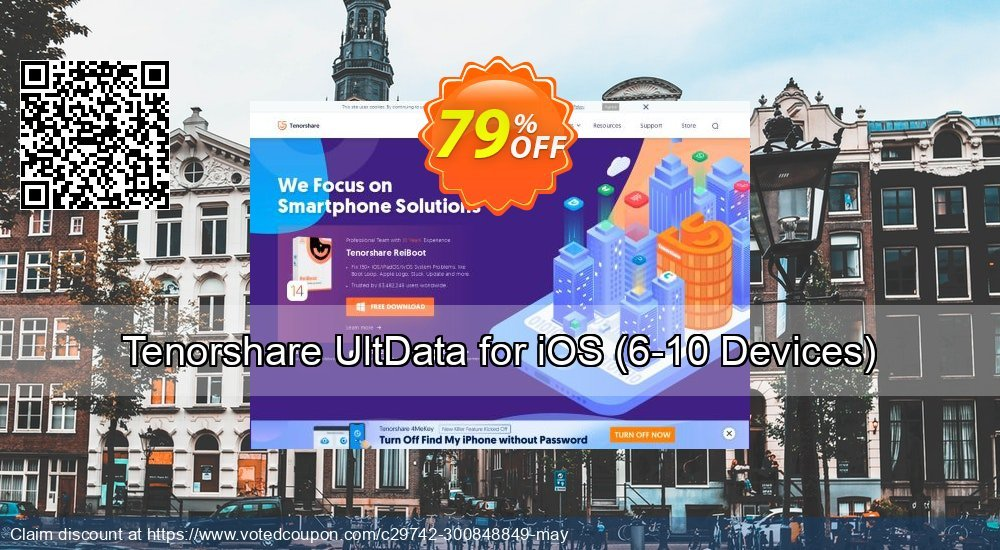 Get 79% OFF Tenorshare UltData for iOS, 6-10 Devices Coupon