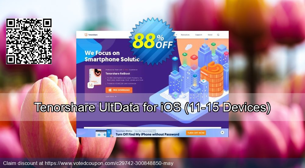 Get 88% OFF Tenorshare UltData for iOS, 11-15 Devices Coupon
