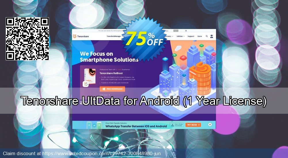 Get 75% OFF Tenorshare UltData for Android, 1 Year License Coupon