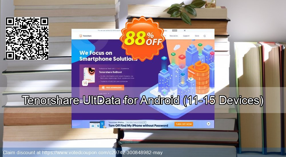 Get 80% OFF Tenorshare UltData for Android - (11-15 Devices) discounts
