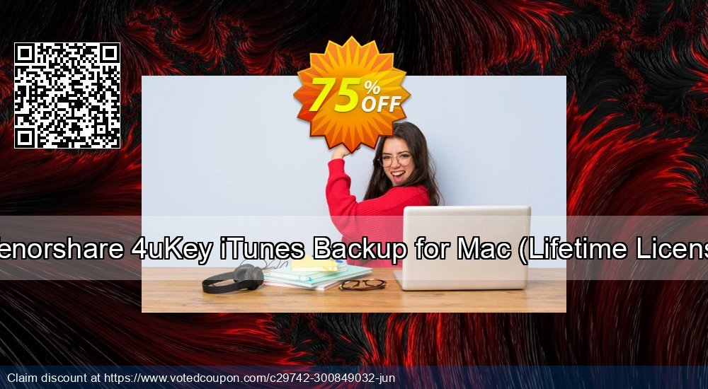 Get 75% OFF TTenorshare 4uKey iTunes Backup for Mac, Lifetime License Coupon