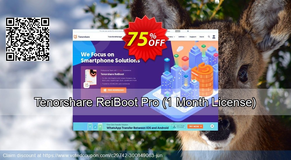 Get 59% OFF Tenorshare ReiBoot Pro, 1 Month License Coupon
