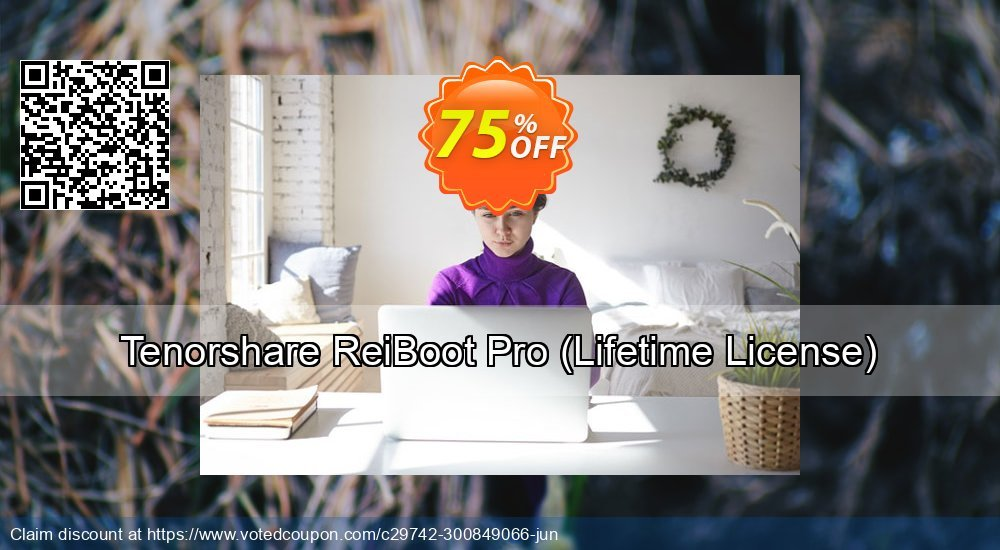 Get 75% OFF Tenorshare ReiBoot Pro, Lifetime License Coupon