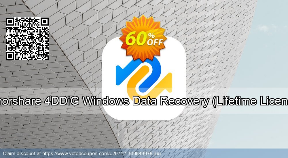 Get 60% OFF Tenorshare 4DDiG Windows Data Recovery, Lifetime License Coupon