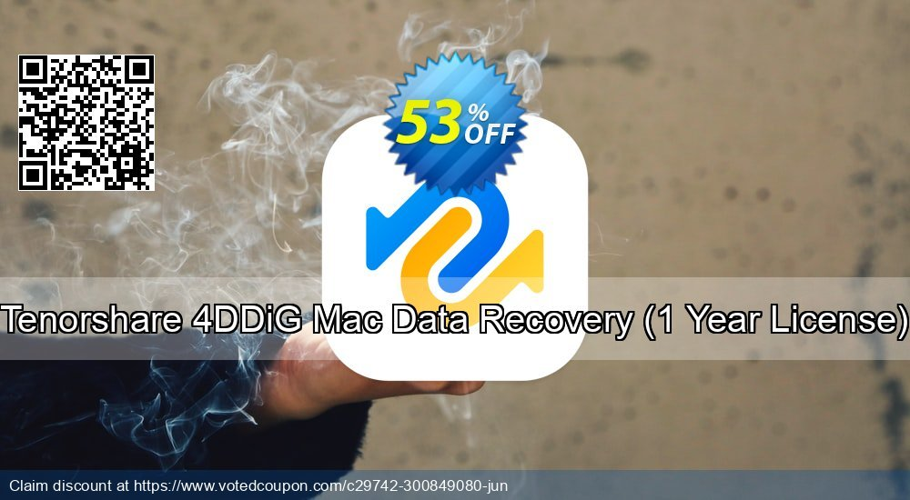 Get 53% OFF Tenorshare 4DDiG Mac Data Recovery Coupon