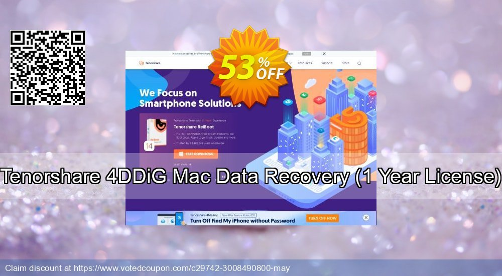 Get 53% OFF Tenorshare 4DDiG Mac Data Recovery, 1 Year License Coupon