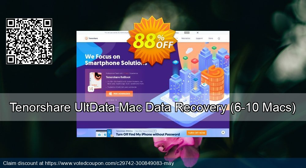 Get 80% OFF Tenorshare UltData - Mac Data Recovery (6-10 Macs) offering deals