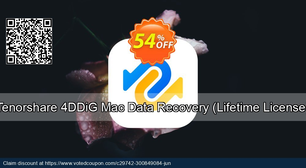 Get 54% OFF Tenorshare 4DDiG Mac Data Recovery, Lifetime License Coupon