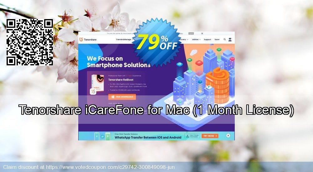 Get 50% OFF Tenorshare iCareFone for Mac - 1 Month promotions