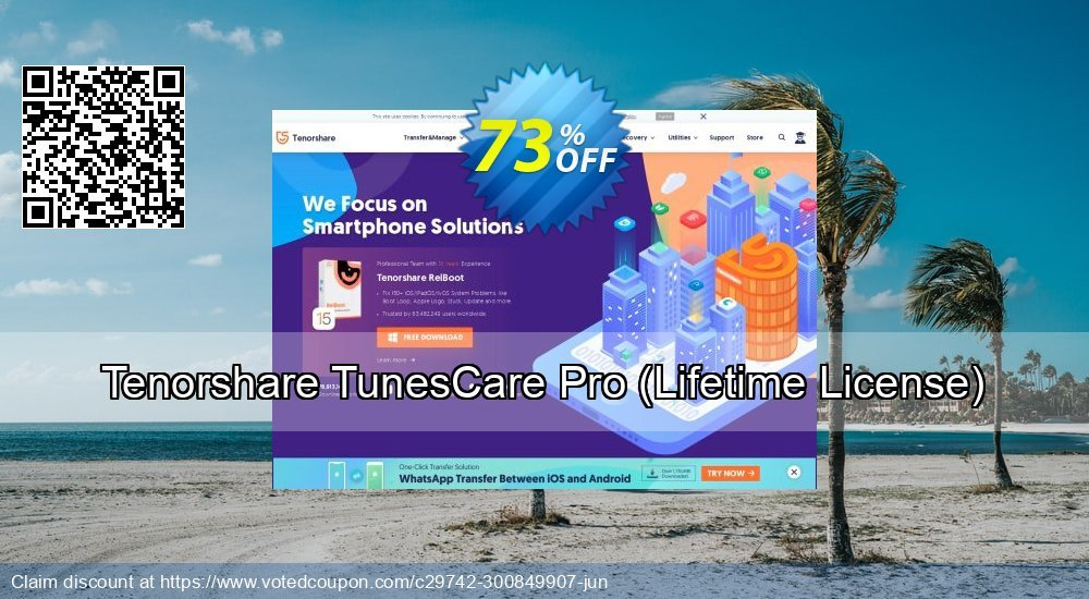 Get 20% OFF Tenorshare TunesCare Pro - Lifetime/1-5 PCs offering sales
