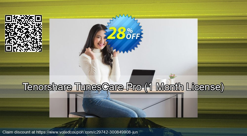 Get 20% OFF Tenorshare TunesCare Pro - 1 Month/1 PC offering sales