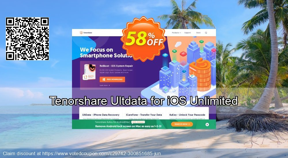 Get 20% OFF Tenorshare Ultdata for iOS (Win) - 1 Year/Unlimited Devices offer