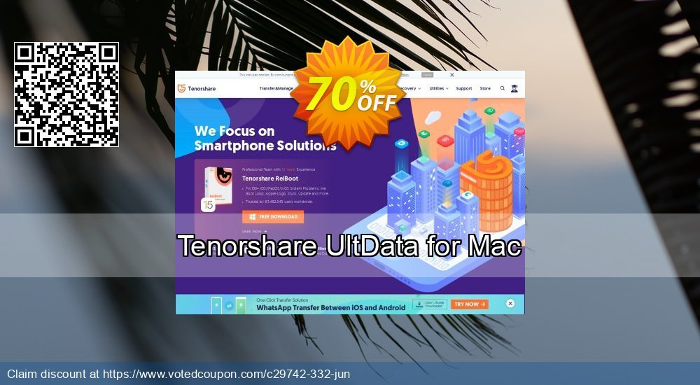 Get 38% OFF Tenorshare UltData for Mac Coupon