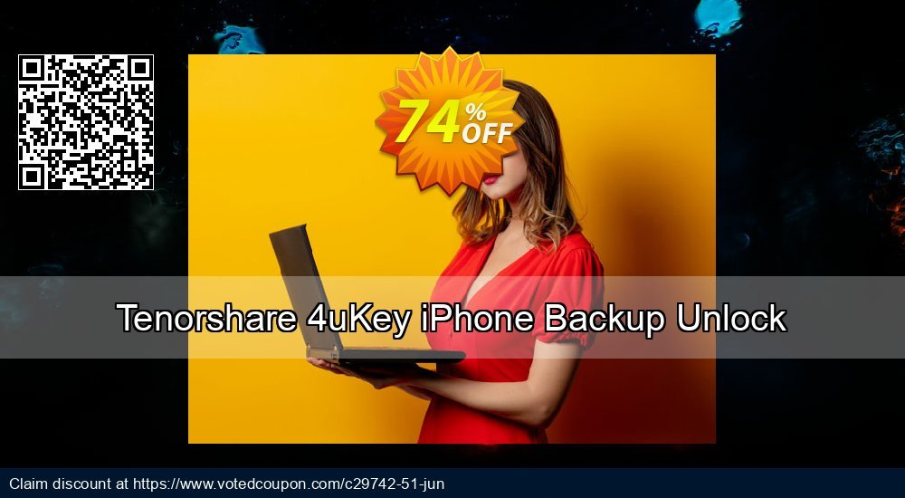 Get 74% OFF Tenorshare 4uKey iPhone Backup Unlock Coupon