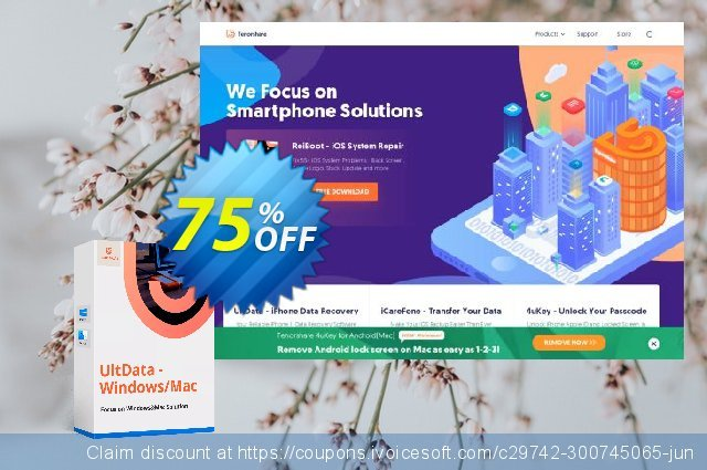 Get 67% OFF UltData - Windows Data Recovery - 1 year Coupon