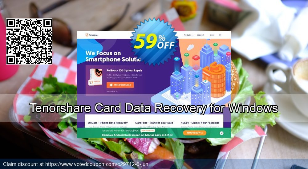 Get 59% OFF Tenorshare Card Data Recovery for Windows Coupon