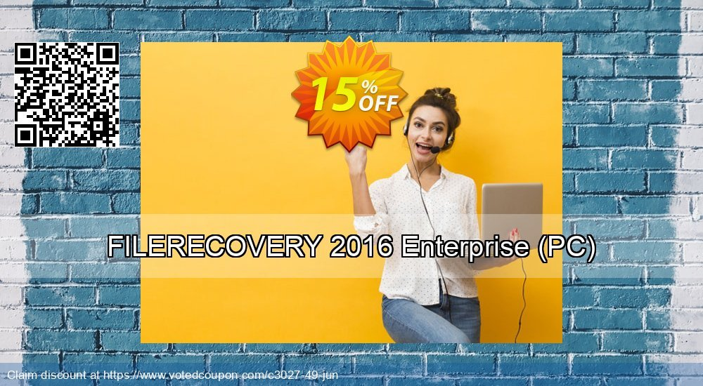 Get 15% OFF FILERECOVERY 2016 Enterprise (PC) offering sales