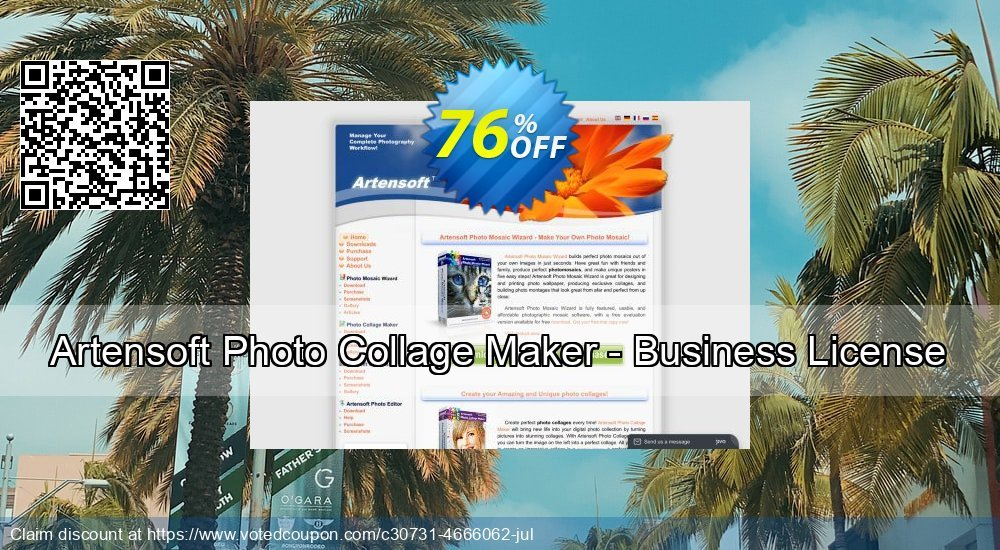 Get 76% OFF Artensoft Photo Collage Maker - Business License offering sales