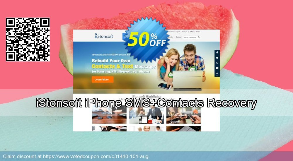 Get 53% OFF iStonsoft iPhone SMS+Contacts Recovery Coupon