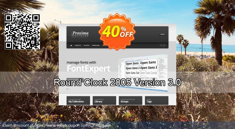 Get 40% OFF Round Clock 2005 Version 3.0 sales