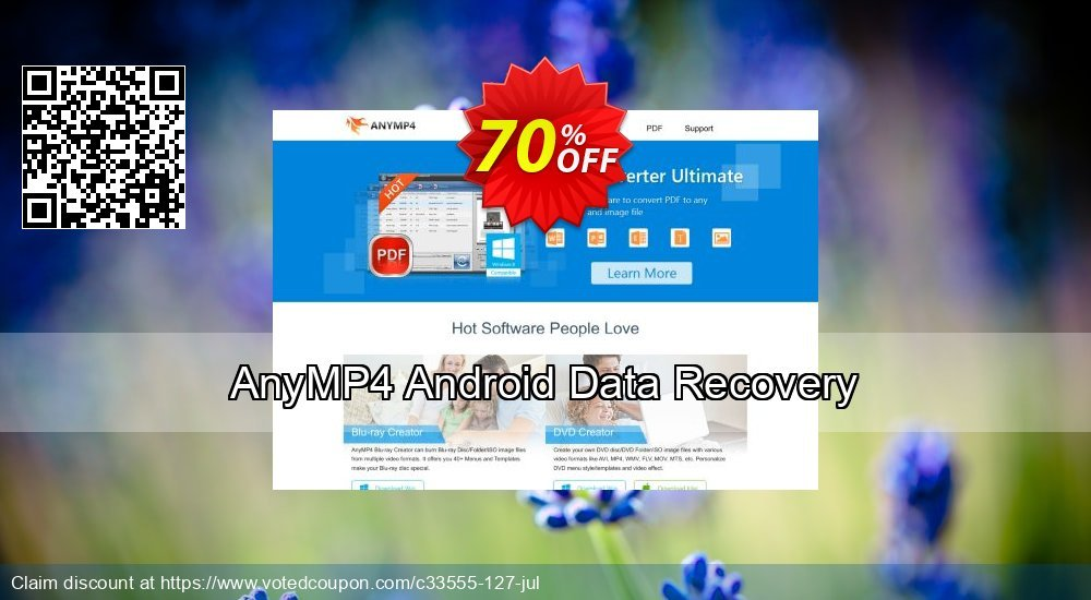 Get 40% OFF AnyMP4 Android Data Recovery Coupon