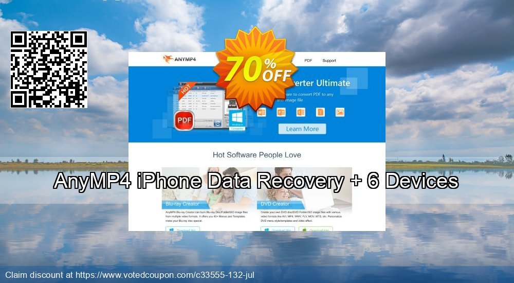 Get 51% OFF AnyMP4 iPhone Data Recovery + 6 Devices Coupon