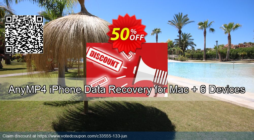 Get 40% OFF AnyMP4 iPhone Data Recovery for Mac + 6 Devices Coupon