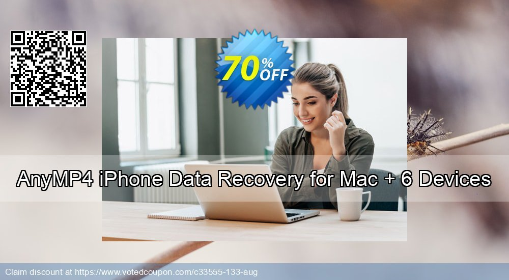 Get 51% OFF AnyMP4 iPhone Data Recovery for Mac + 6 Devices Coupon