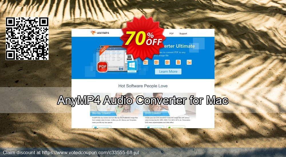 Get 40% OFF AnyMP4 Audio Converter for Mac offering sales