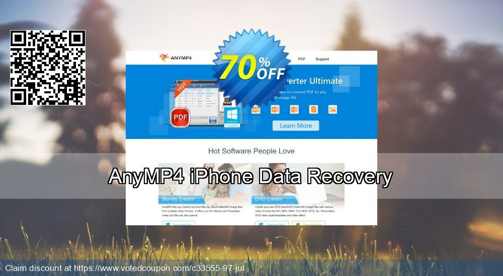 Get 52% OFF AnyMP4 iPhone Data Recovery Coupon