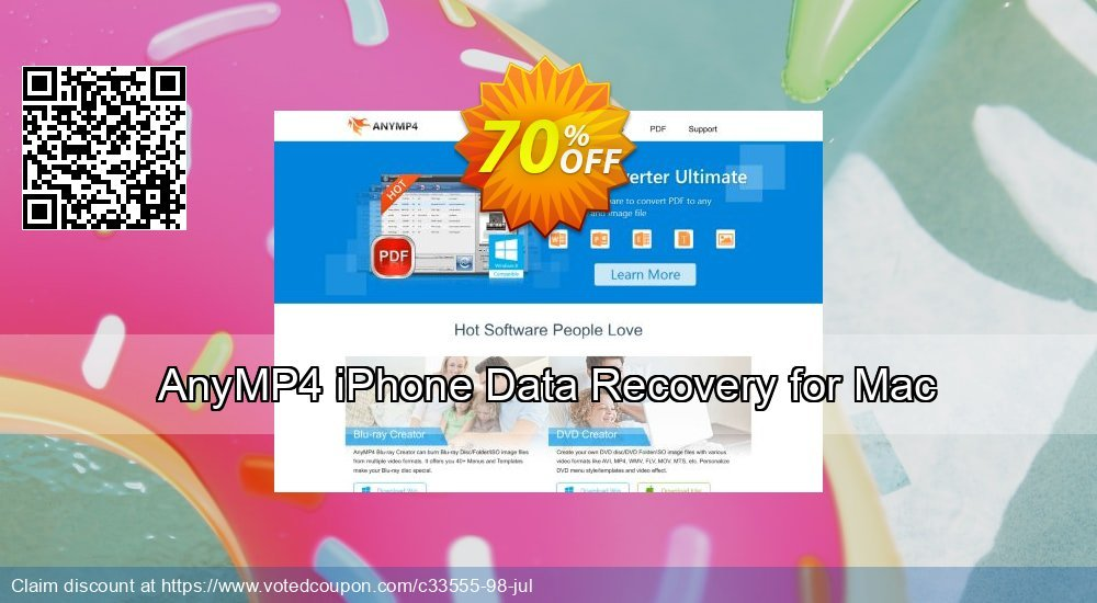 Get 40% OFF AnyMP4 iPhone Data Recovery for Mac Coupon