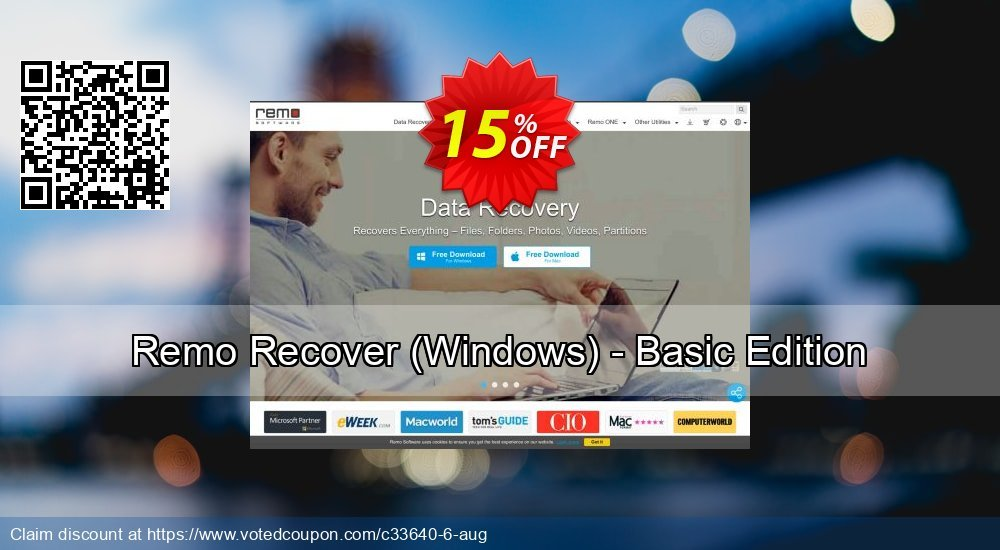 Get 15% OFF Remo Recover (Windows) - Basic Edition offering sales