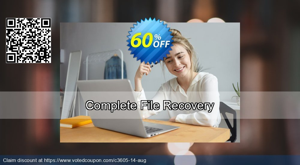 Get 60% OFF Complete File Recovery offering sales