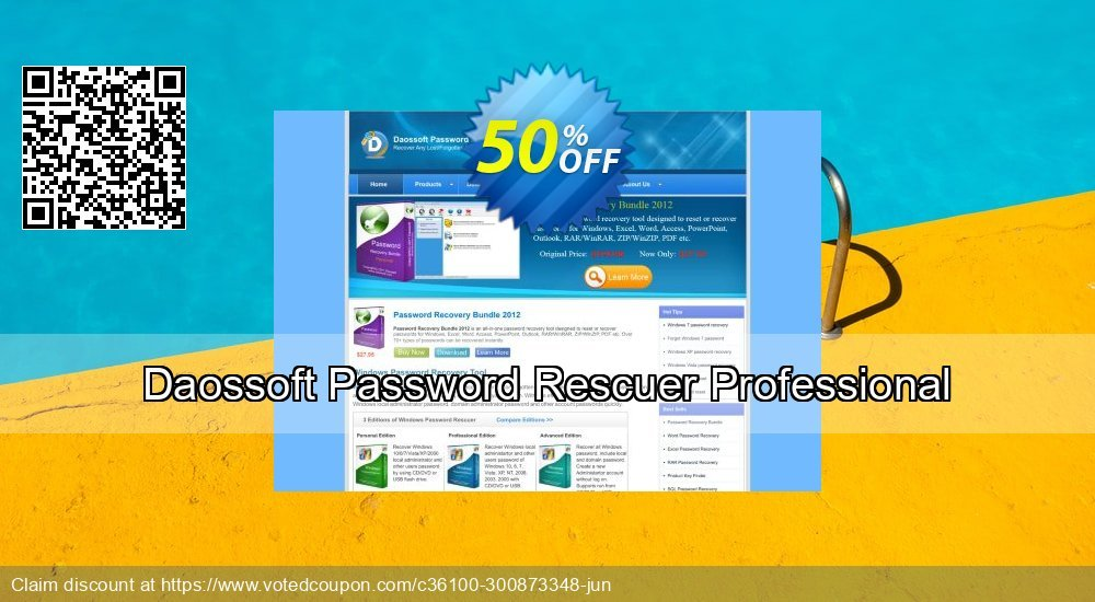 Get 30% OFF Daossoft Password Rescuer Professional Coupon