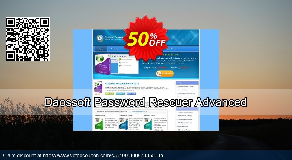 Get 51% OFF Daossoft Password Rescuer Advanced Coupon
