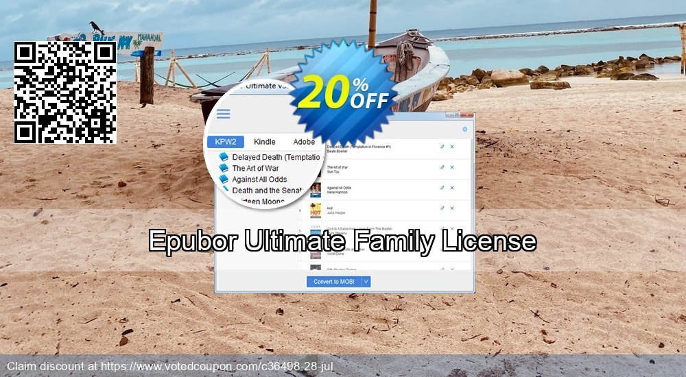Get 20% OFF Epubor Ultimate for Win Family License promo