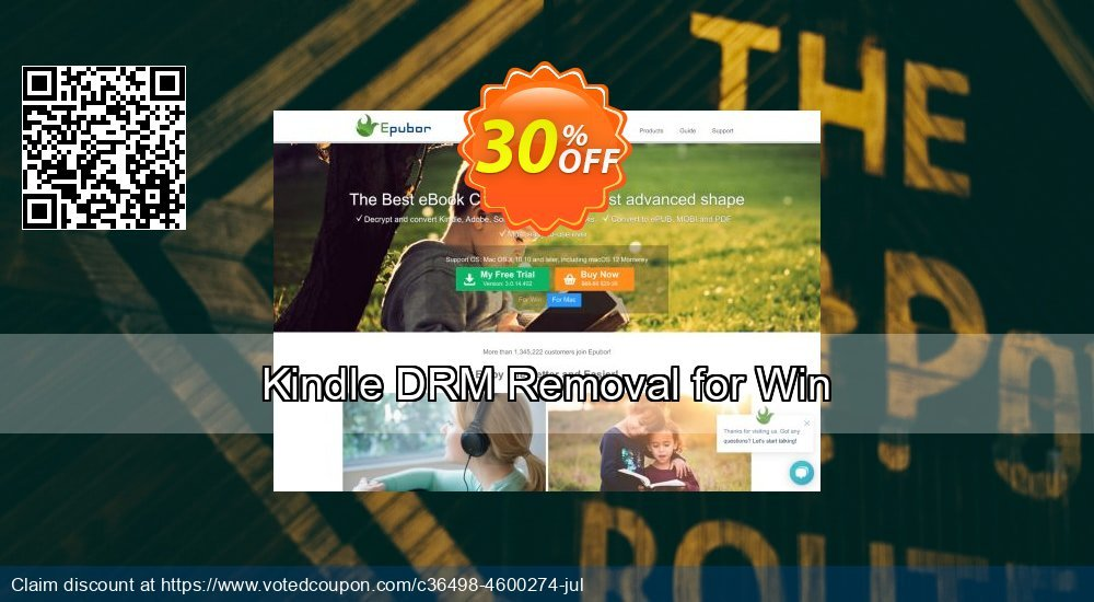 Get 30% OFF Kindle DRM Removal for Win deals