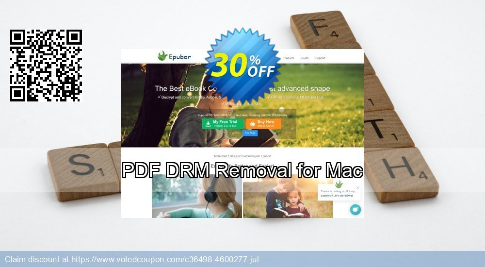 Get 30% OFF PDF DRM Removal for Mac offering sales