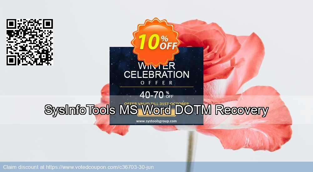 Get 10% OFF SysInfoTools MS Word DOTM Recovery offering sales