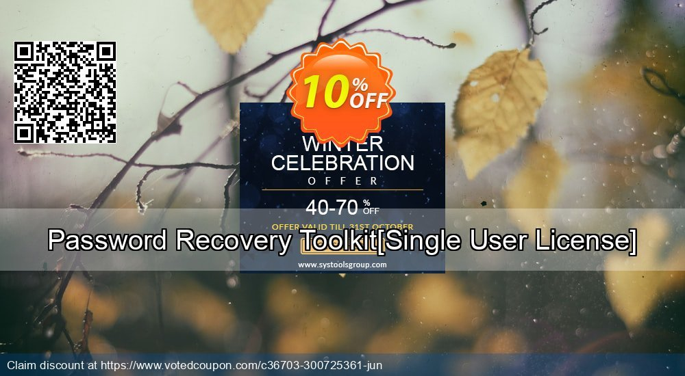 Get 10% OFF Password Recovery Toolkit[Single User License] offering discount