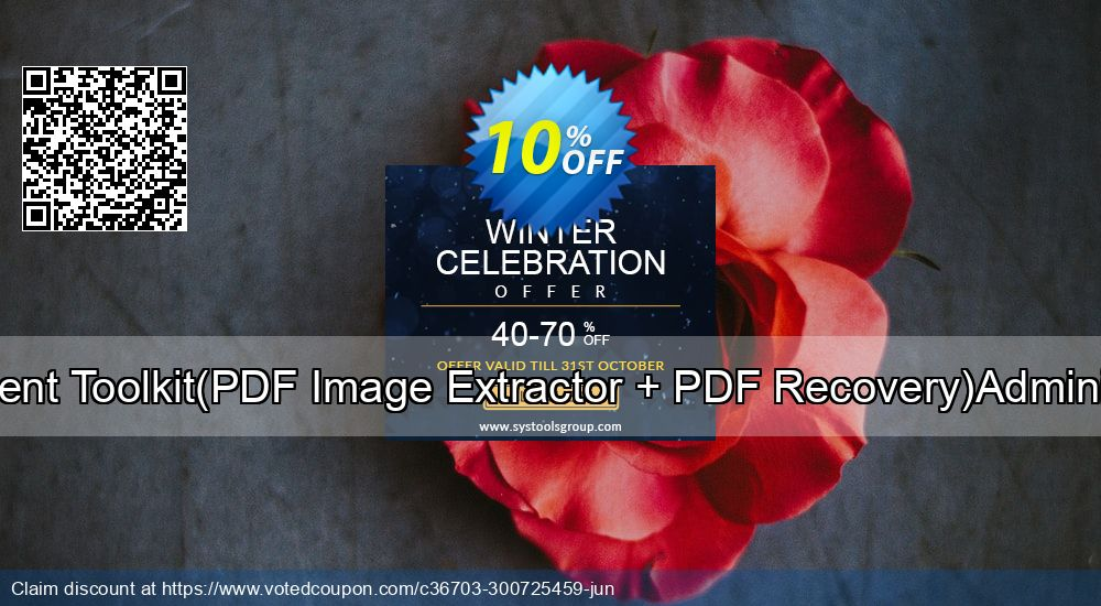 Get 10% OFF PDF Management Toolkit(PDF Image Extractor + PDF Recovery)Administrator License offering deals
