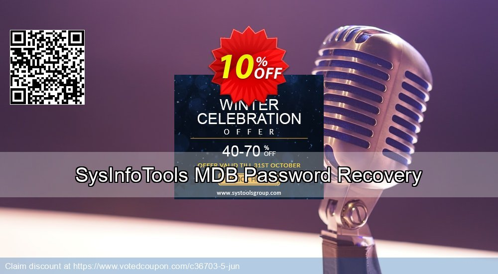 Get 10% OFF SysInfoTools MDB Password Recovery Coupon