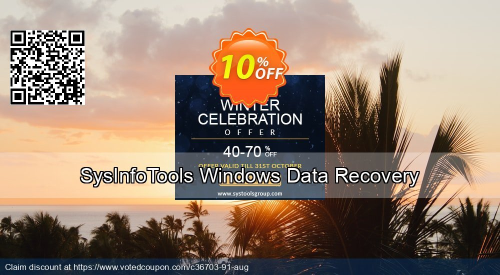 Get 10% OFF SysInfoTools Windows Data Recovery Coupon
