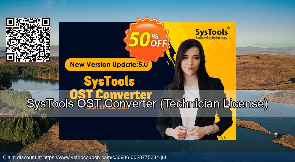 Get 25% OFF SysTools OST Converter, Technician License Coupon