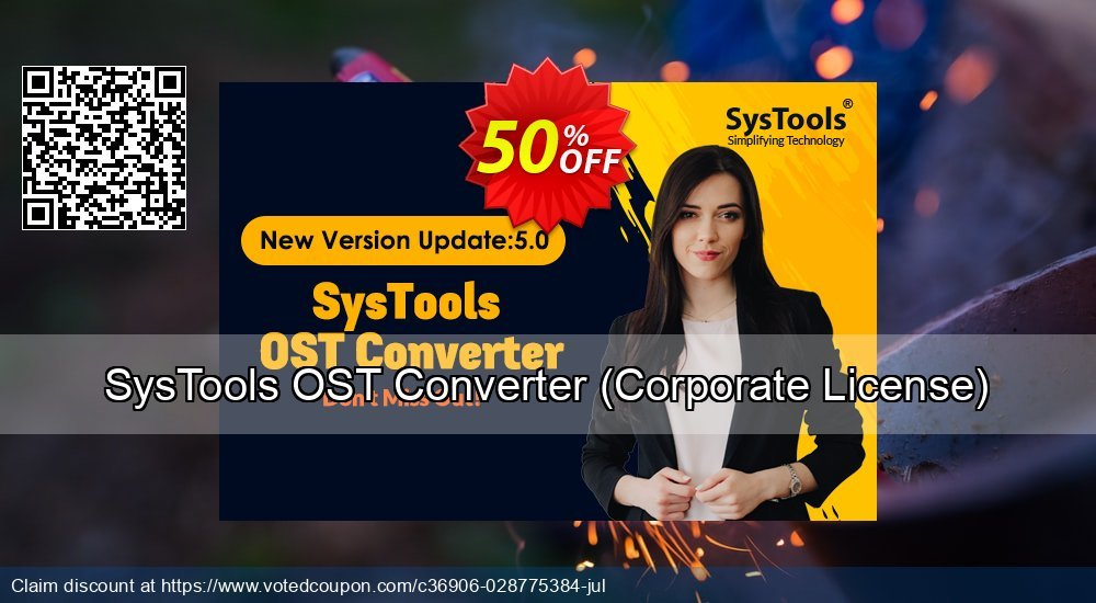 Get 25% OFF SysTools OST Converter, Corporate License Coupon