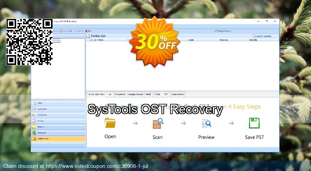 Get 30% OFF SysTools OST Recovery Coupon