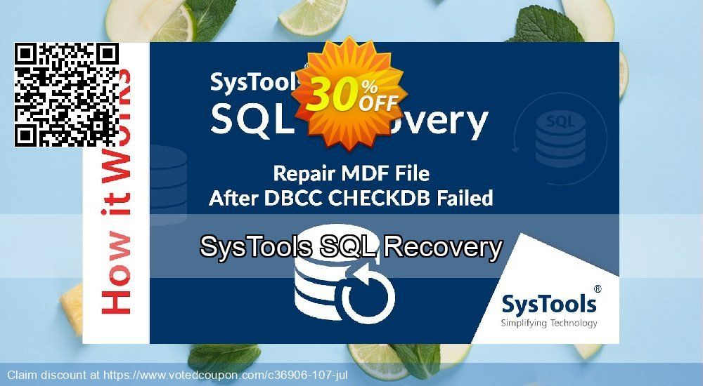 Get 30% OFF SysTools SQL Recovery Coupon