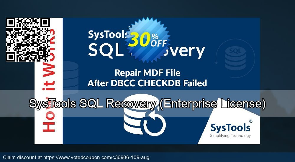 Get 30% OFF SysTools SQL Recovery, Enterprise License Coupon