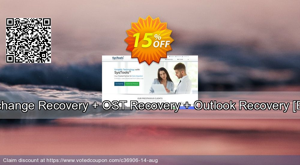 Get 15% OFF Bundle Offer - Exchange Recovery + OST Recovery + Outlook Recovery [Enterprise License] offer
