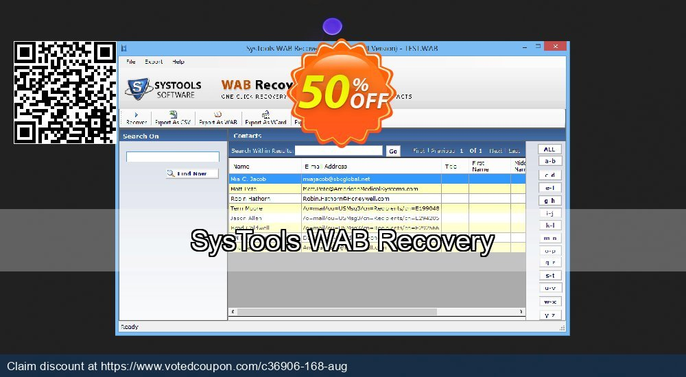 Get 30% OFF SysTools WAB Recovery offering deals
